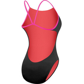 TYR Solid Cutoutfit Badpak Dames, black/pink
